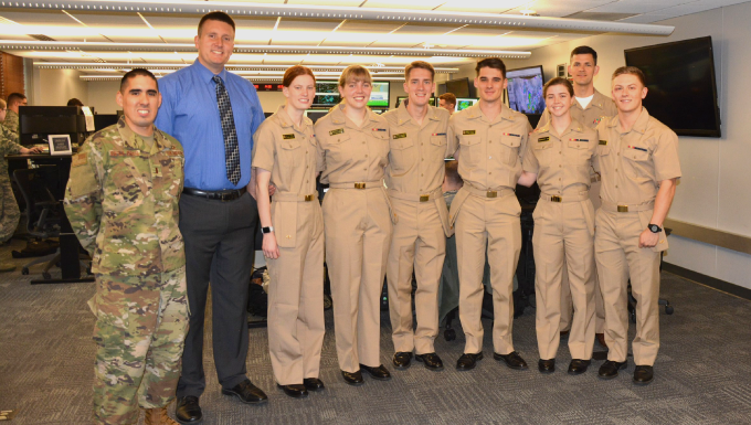 Midshipmen visit 15th OWS to learn Midwest weather